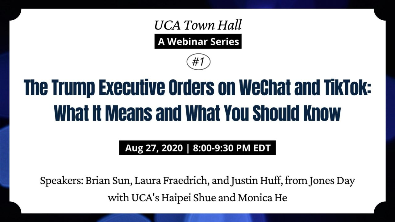 UCA Townhall Webinar on Executive Order