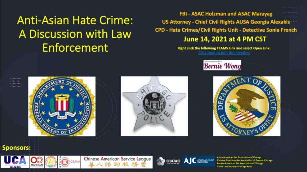 Discussion with Law Enforcement on Anti-Asian Hate Crime, June 14